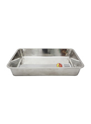 Raj Small Steel Deep Baking Tray, HKDT0S, 30.5x23.6x5.3 cm, Silver