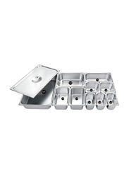 Raj 1/3x26.5cm Stainless Steel Gastronorm Pan Cover, CS5733, Silver, 32.5x26.5cm