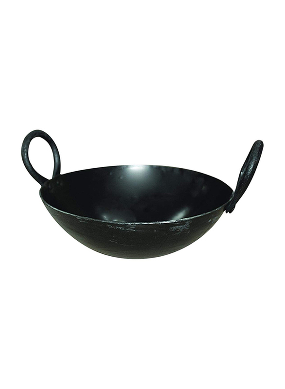 Raj 20.5cm Iron Kadai, IK0008, Black