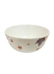 Dinewell 3.5-inch Melamine Vintage Leaves Bowl, DWB5006VL, White/Yellow