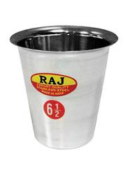 Raj 7.5cm Steel Rampatra Coffee Glass, RP05.5, Silver