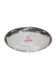 Raj 20cm Silver Touch Steel China Plate, STCP09, Silver