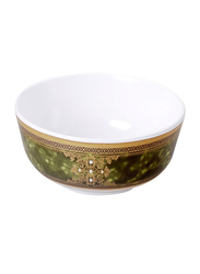 Dinewell 4-inch Bowl, DWB5007GG, Green/White
