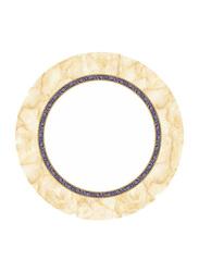 Dinewell 10.5-inch Hotensia Non-Stick Melamine Dinner Plate, DWHP3089HO, White/Beige