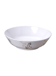 Dinewell 21cm Melamine Green Bamboo Serving Bowl, DWC2081GB, White