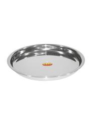 Raj 25cm Steel Patti Thali, TP0011, Silver