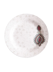 Dinewell 10.5-inch Jewels Melamine Soup Plate, DWSP001JW, White/Red