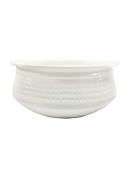 Dinewell 18cm Round Handi With Lid, DWH3032W, White