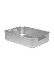 Chefset 61cm Aluminium Rectangle Deep Roasting Dish, CS1143, 61x45.7x7 cm, Silver
