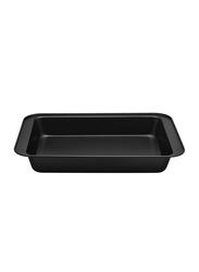 RK 37cm Non Stick Deep Rectangle Cookie Sheet Baking Tray, 37x25x5 cm, Black