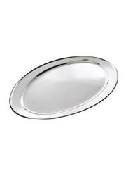 Raj 25cm Steel Oval Serving Tray, OT0025, 17x25 cm, Silver