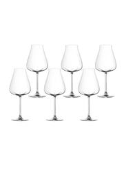 Lucaris 700ml 6-Piece Set Desire Robust Red Glass, LS10RR2506, Clear