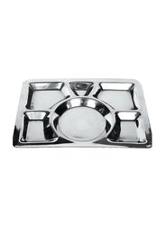 Raj 40cm Steel Heavy Mess Tray, MTH001, 40x29.5 cm, Silver