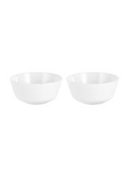 Dinewell 2-Piece Melamine Topaz Katori Set, DWB9001W, 3.5x1.8-inch, White