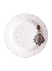 Dinewell 7.5-inch Jewels Melamine Side Plate, DWHP3090JW, White/Red