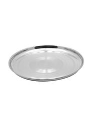 Raj 60cm Steel Thala Round Dinner Plate, RT0060, Silver
