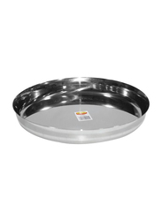 Raj 22cm Steel Sada Thali, TS0010, Silver
