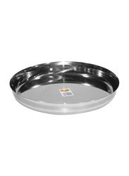 Raj 29cm Steel Sada Thali, TS0013, Silver