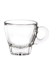 Ocean 70ml 6-Piece Set Caffe Glass Espresso Cup, P02442, Clear