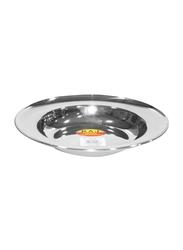 Raj 18.5cm Steel Soup Plate, SP0008, Silver