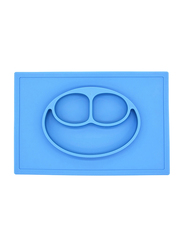 Eazy Kids Silicone Square Plate, Blue