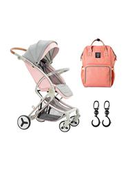 Teknum Feather Lite Traveller A1 Stroller Combo, Light Pink