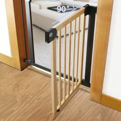 Baby Safe Wooden Safety Gate, Natural Wood