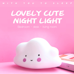 Eazy Kids Cloud Shape Lamp Light, White