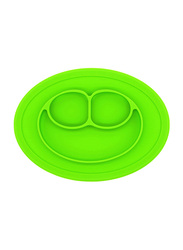 Eazy Kids Oval Silicone Plate, Green