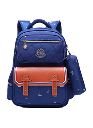 Sambox Fashion School Backpack Bag for Kids with Pencil Case, Hazel/ Navy Blue