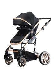 Teknum 3-in-1 Pram Baby Stroller, Black
