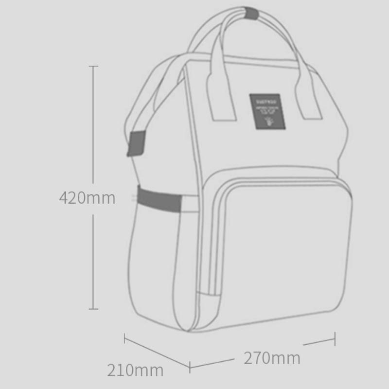 Teknum Stroller with Diaper Bag Set, Yellow Wave