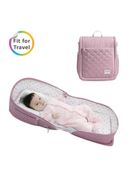 Sunveno Portable Baby Bed and Diaper Bag, Pink