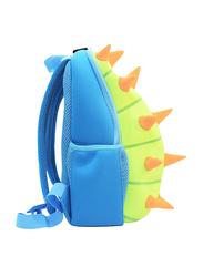 Nohoo Jungle Backpack Bag for Boys, Spiky Dinosaur, Green/Blue