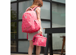 Sunveno 2-in-1 Diaper Backpack Bags, Pink