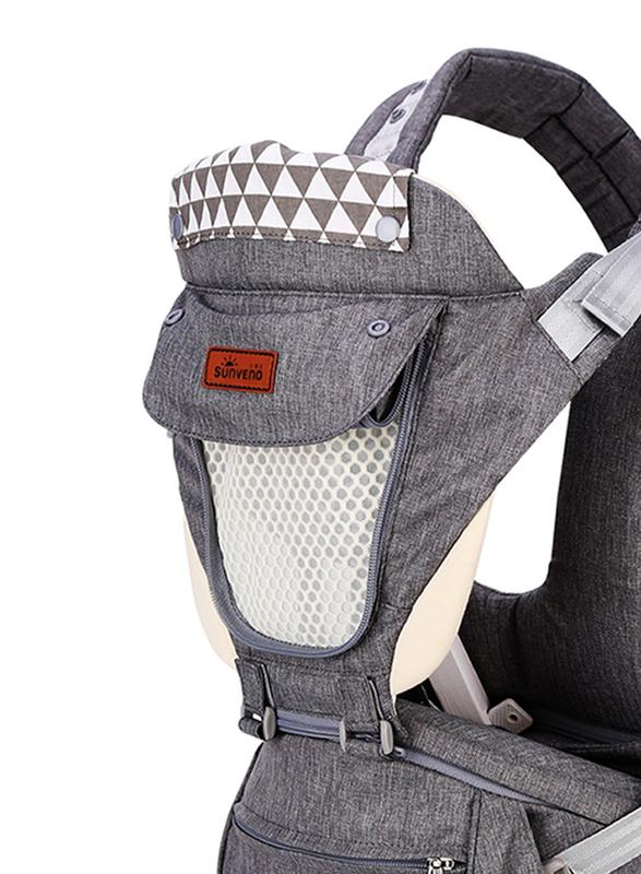 Sunveno Kangaroo Style Ergonomic Baby Carrier, Grey