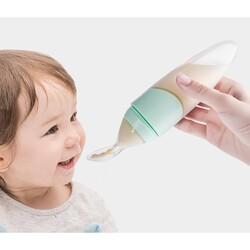 Sunveno Baby Feeding Spoon Dispenser, Green