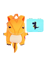 Nohoo Backpack Bag and Lunch Box School Set, T-Rex Bento, Yellow/Green