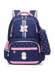 Sambox Neo School Backpack Bag for Girls with Pencil Case, Crossbow, Navy Blue