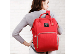 Sunveno Diaper Backpack Bag, Real Red