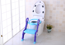 Eazy Kids Step Stool Foldable Potty Trainer Seat for Kids and Babies, Blue
