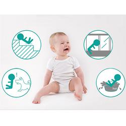 Baby Safe Metal Safety Gate, White