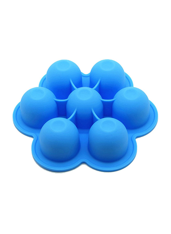Eazy Kids Baby Food Silicone 7 Compartments Freezer Tray, Blue