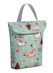 Sunveno Wet & Dry Organizer Diaper Shoulder Bag, Unicorn, Green