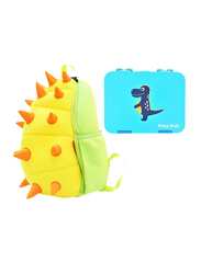 Nohoo Backpack Bag and Lunch Box School Set, Spiky Dinosaur, Yellow