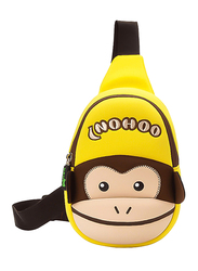 Nohoo Jungle Chest Bag for Kids, Monkey, Yellow