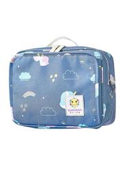 Sunveno Diaper Changing Clutch Kit, Unicorn Head, Large, Blue