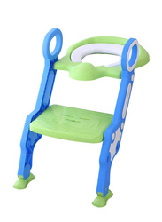 Eazy Kids Step Stool Foldable Potty Trainer Seat for Kids and Babies, Green