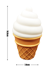 Eazy Kids Ice Cream Shape Lamp Light, White