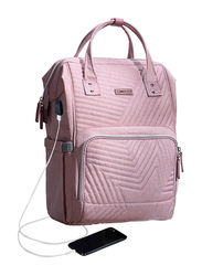 Sunveno Diaper Backpack Bag with USB, Star, Nova Pink